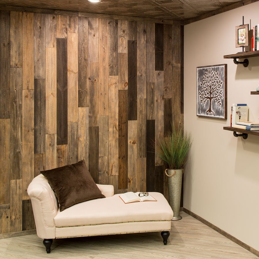 Rustic Grove - Wood Panel in Mixed Brown