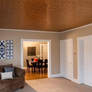 Fasade Ceiling Tile in Traditional 1