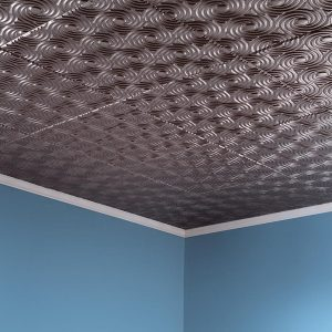 Fasade Ceiling Tile in Cyclone