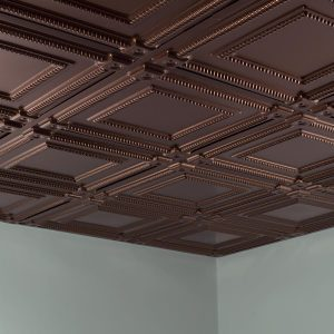 Fasade Ceiling Tile in Coffer
