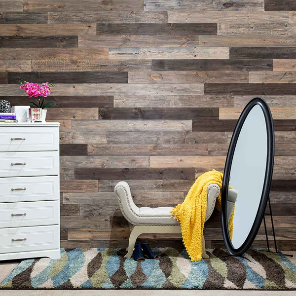 Rustic Grove Wall Planks in Mixed Brown