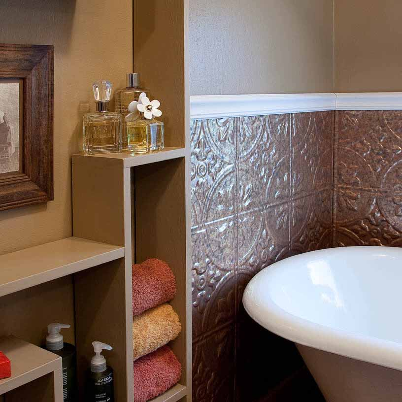 Fasade Wall Panel-Traditional 2 in Copper Fantasy