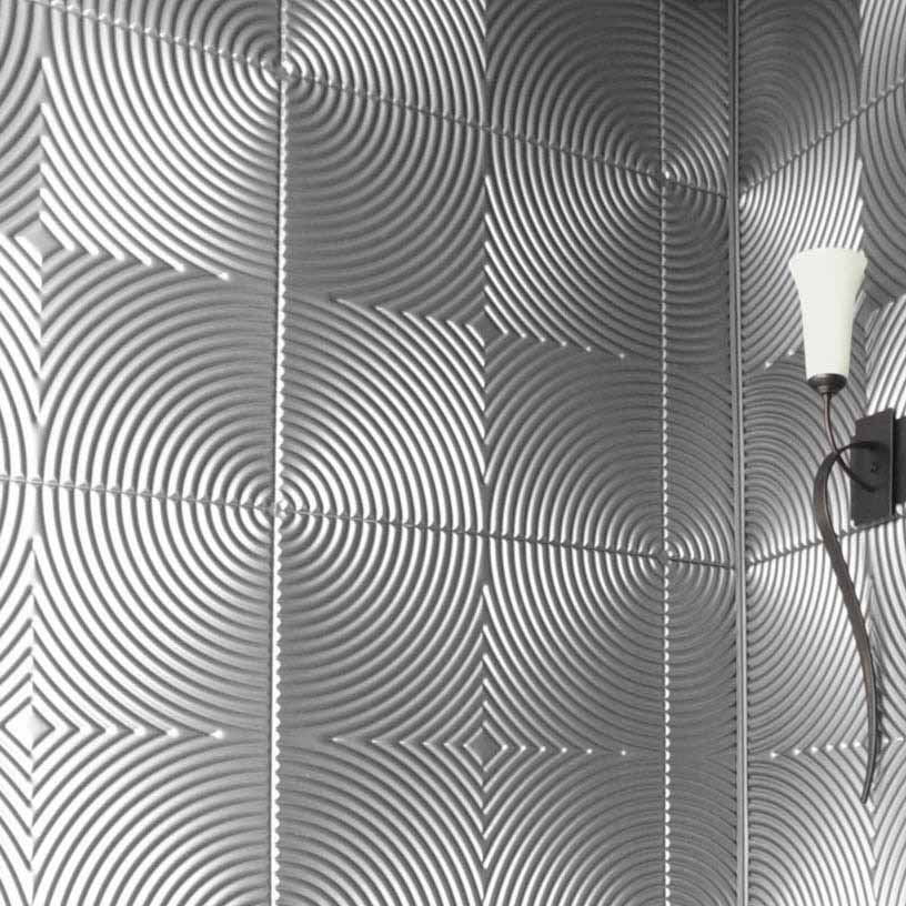 Fasade Wall Panel-Echo in Brushed Aluminum
