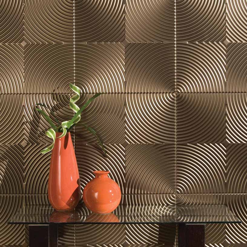 Fasade Wall Panel-Echo in Oil-Rubbed Bronze