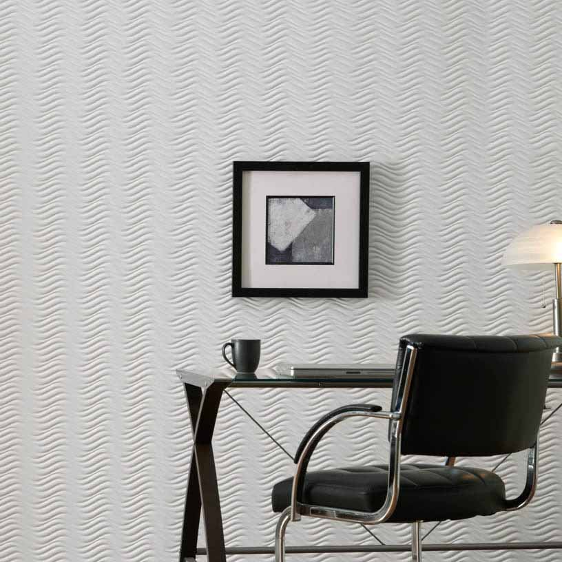 Fasade Wall Panel-Current in Matte White Horizontal