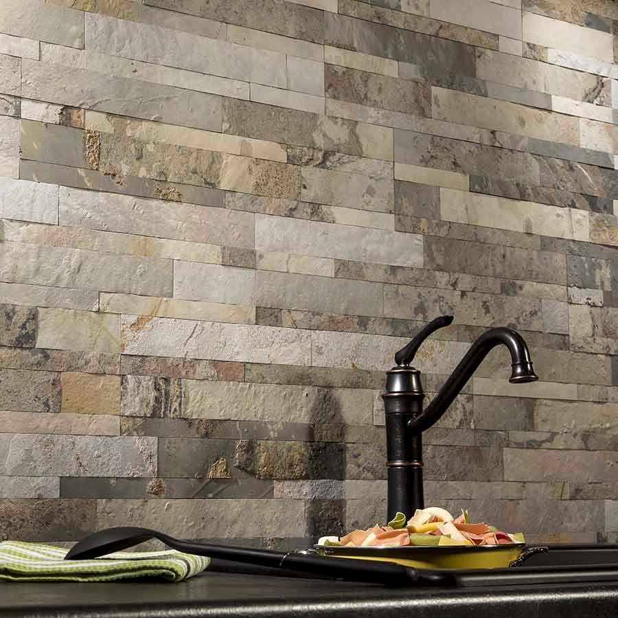 Aspect Peel & Stick Stone tiles