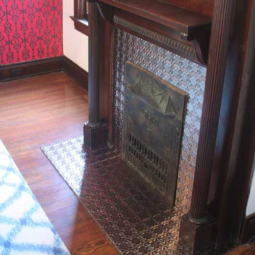 Fireplace with Traditional 6 in Brushed Aluminum