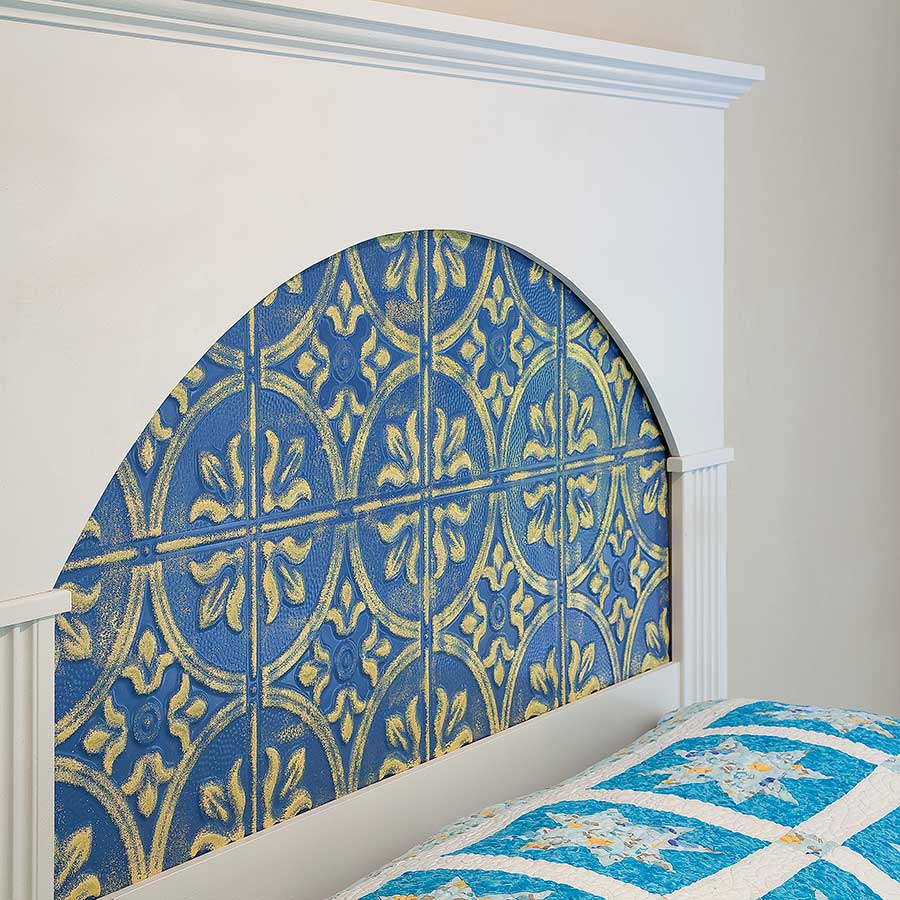 Headboard with Fasade Traditional 2-Matte White (Custom-Painted)